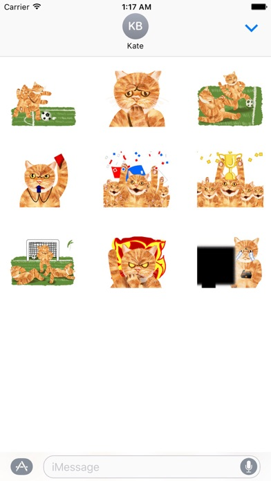 Scoccer Team Of Cats Sticker screenshot 2