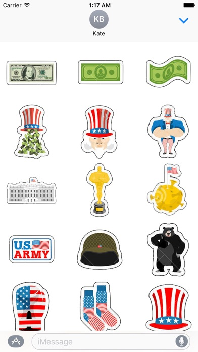USA Icon Sticker Screenshot