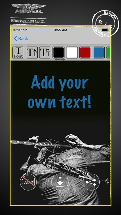 Black and White - Ecard Maker screenshot 3