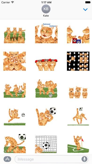 Scoccer Team Of Cats Sticker screenshot 1