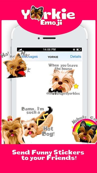Yorkie Dog Emoji Stickers screenshot four