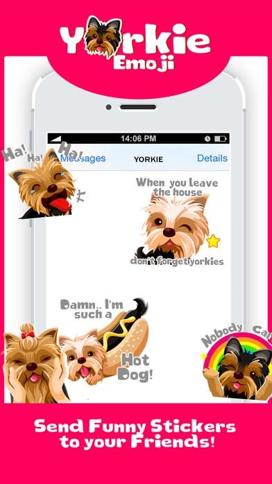 Yorkie Dog Emoji Stickers screenshot four