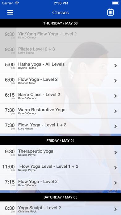 Fusionmovement Yoga studio screenshot three