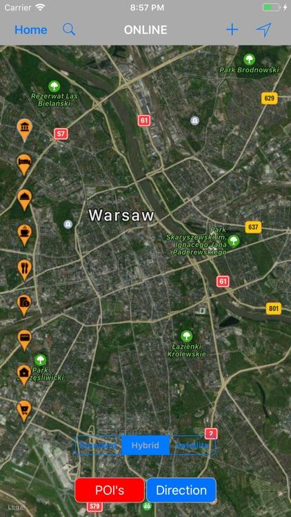 Warsaw (Poland) – Travel Map screenshot-4