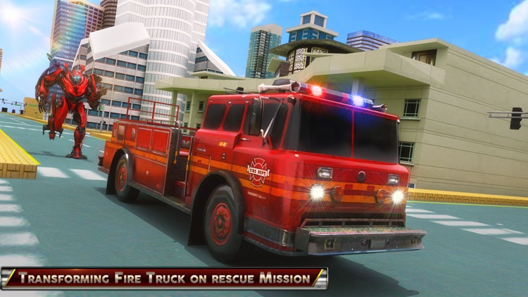 Fire Truck Fighter Robot Fight screenshot-3