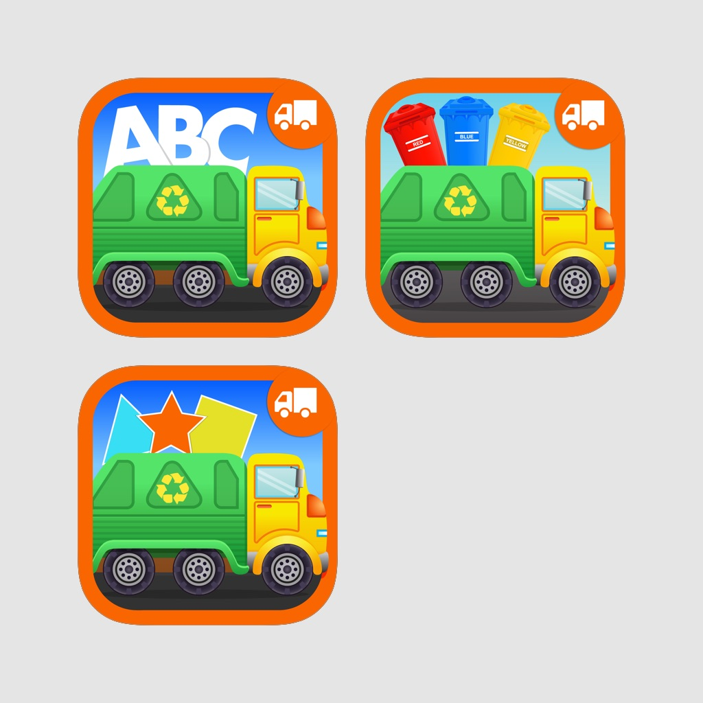Garbage Truck Bundle - Early Learning Fun Games For Toddlers and Preschool Kids