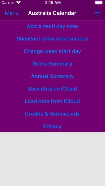 2019 Australia Calendar NoAds screenshot-3