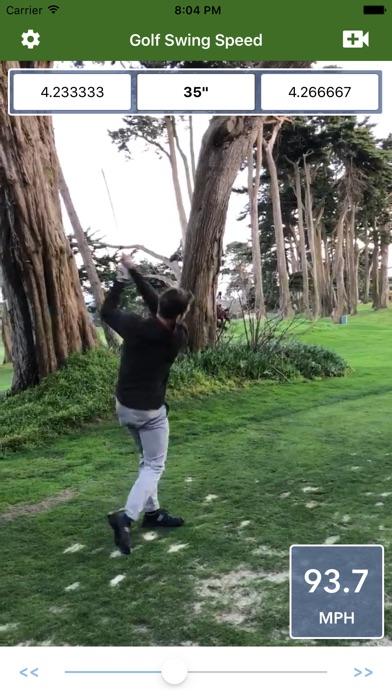 Golf Swing Speed Analyzer screenshot 1