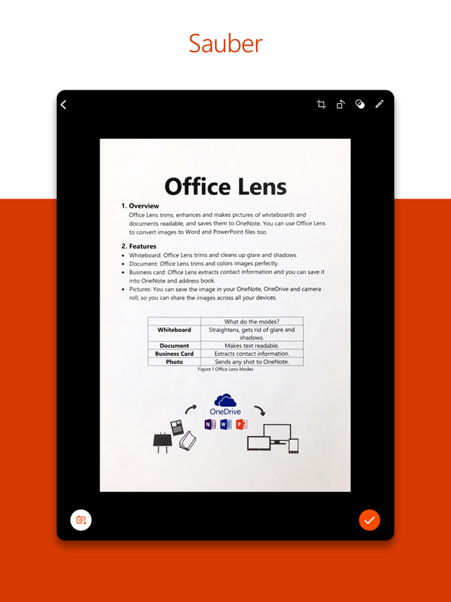 Microsoft Office Lens|PDF Scan Screenshot