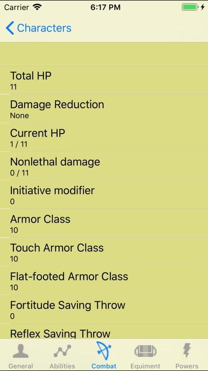 PF Character Sheet - NoAds screenshot-3