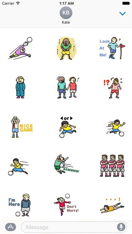 Footballers Stickers Pack