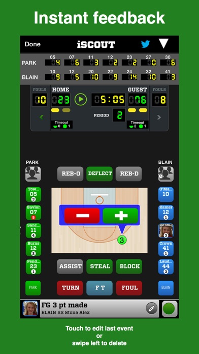 Iscout Basketball review screenshots