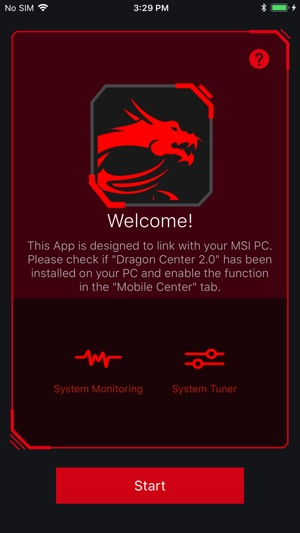 MSI Dragon Dashboard 2 0 on the App Store
