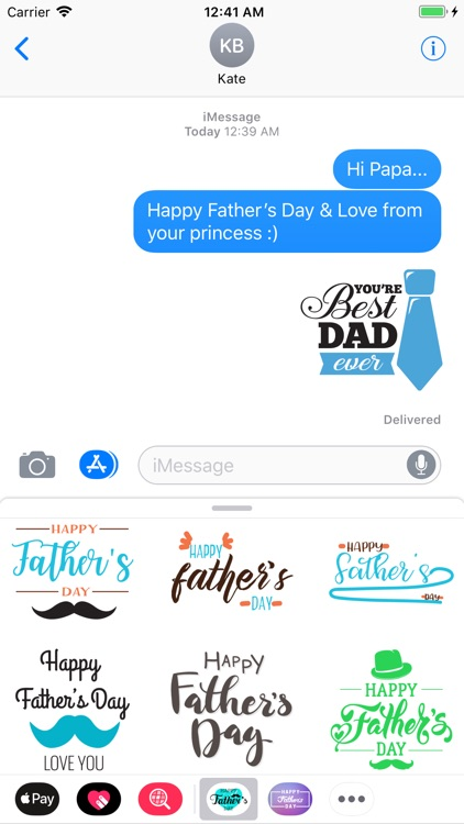 Father's Day Sticker Pack App