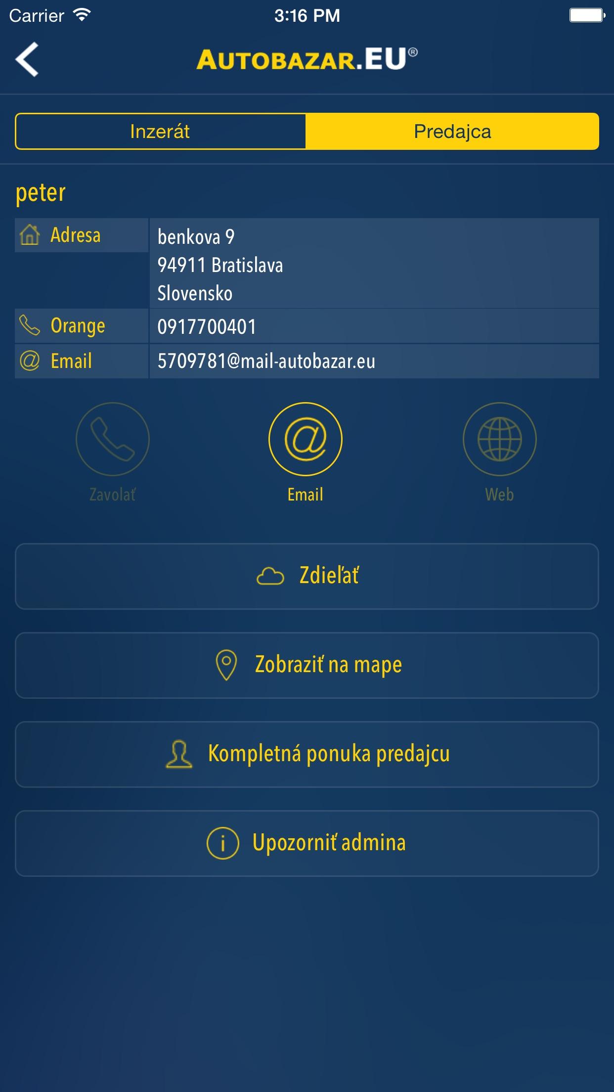 Autobazar.EU Screenshot