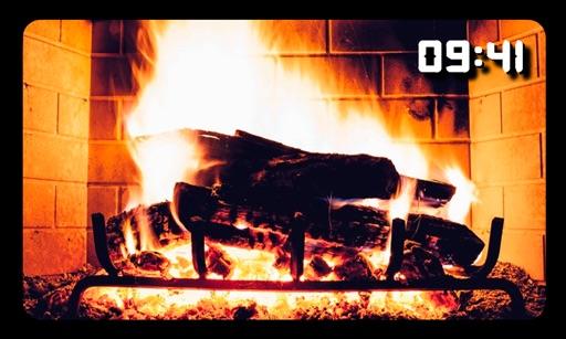 Fireplace TV Screen