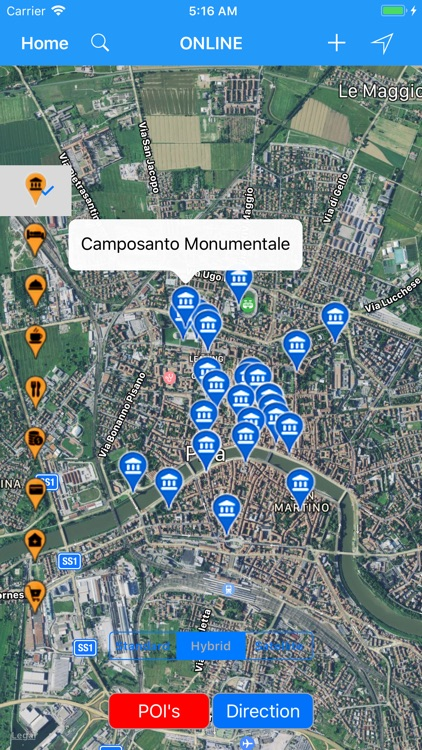 Travel Map Of Italy With Cities.Pisa Italy City Travel Map By Shine George