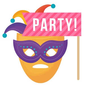 100+ Party Masks Hats Stickers