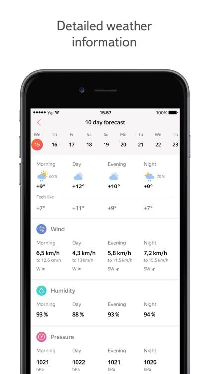 Yandex.Weather online forecast screenshot-3