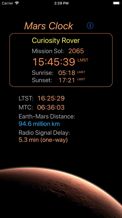 Mars-Clock screenshot-0