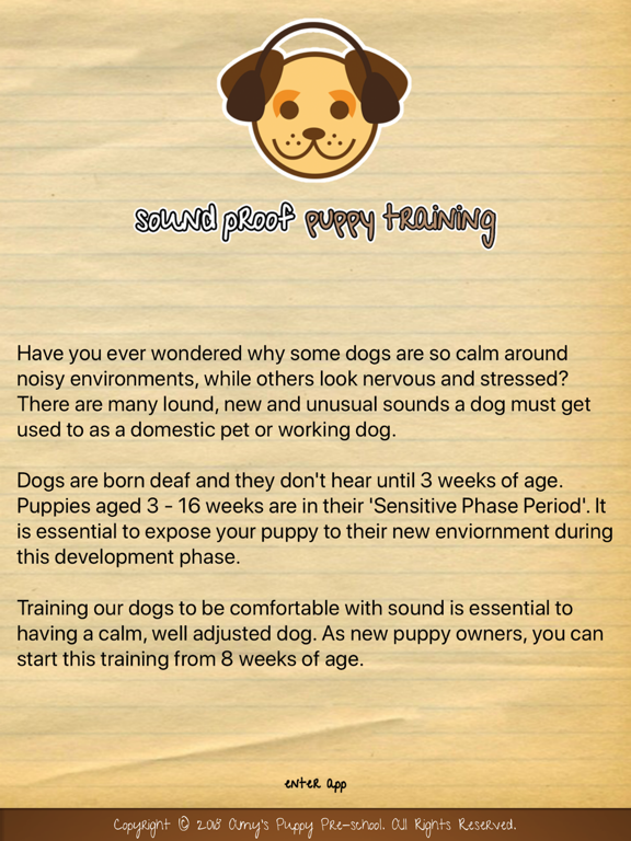 Sound Proof Puppy Training screenshot