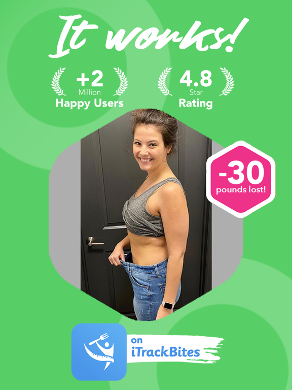 iTrackBites - Points Calculator with Weight Loss Exercise Tracker and Calorie Lose Counter for Diet Food Nutrition Watchers screenshot