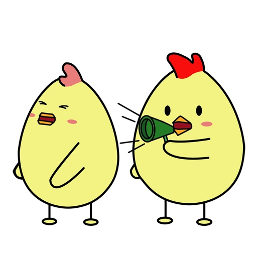 Animated Funny Chicken Couple