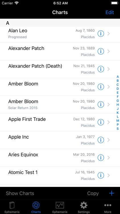 iPhemeris Astrology Charts screenshot-3