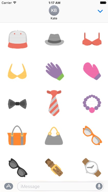 Clothes And Shoes Icon Sticker screenshot-3