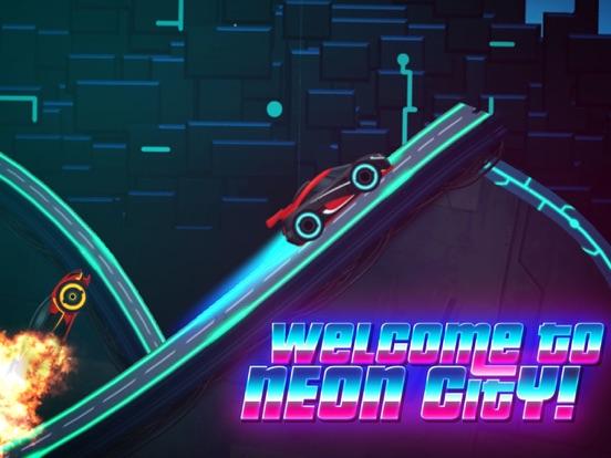 Neon Rider Drives Sports Car для iPad