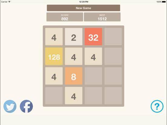 2048 Puzzle Game screenshot