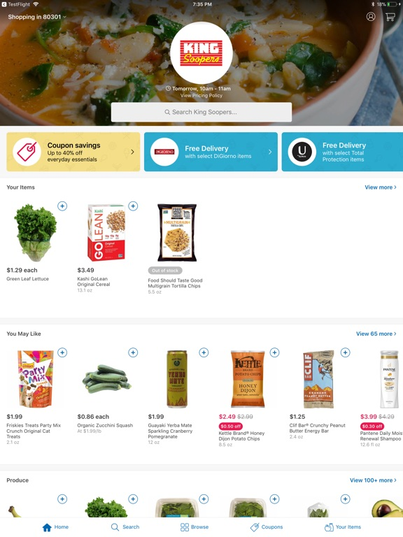 King Soopers Delivery App Price Drops
