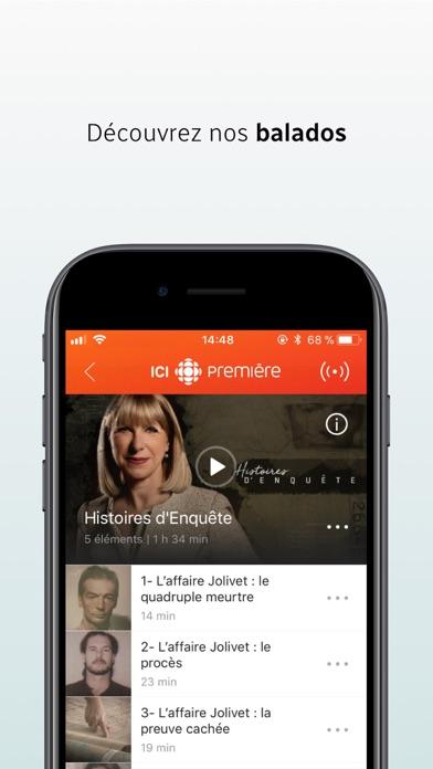 ICI Radio-Canada Première Скриншоты4
