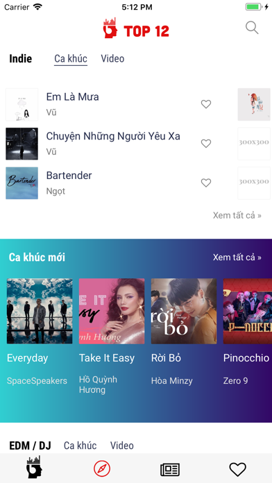 Top12 - BXH âm nhạc Việt