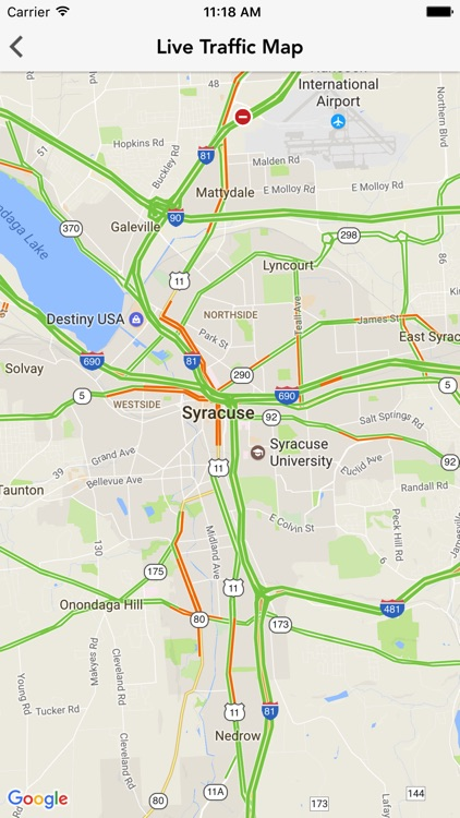 Traffic from 9 WSYR Syracuse