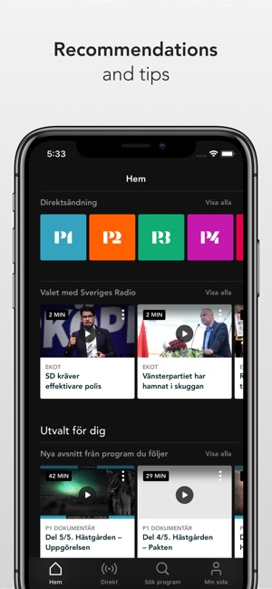 how to play radio on iphone sveriges radio play on the app 6733