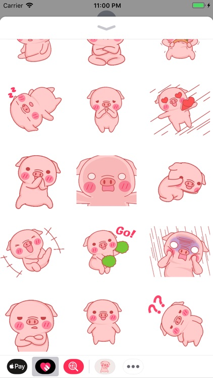 Mini Pig Animated Stickers