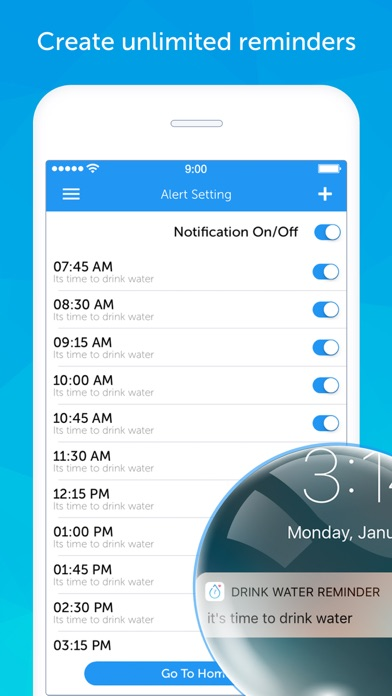 Screenshot for Drink Water Reminder N Tracker in Malaysia App Store