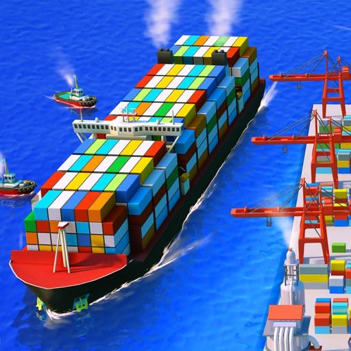 Sea Port: Cargo Ship Harbor