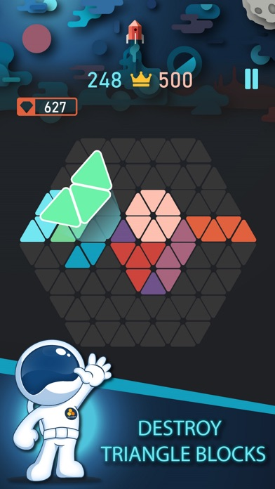 Trigon : Triangle Block Puzzle Screenshot 1