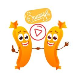 Animated Sausage Stickers