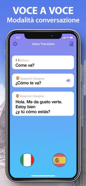 traduttore vocale spagnolo italiano