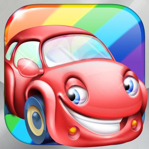 Rainbow Cars - Learn Colors