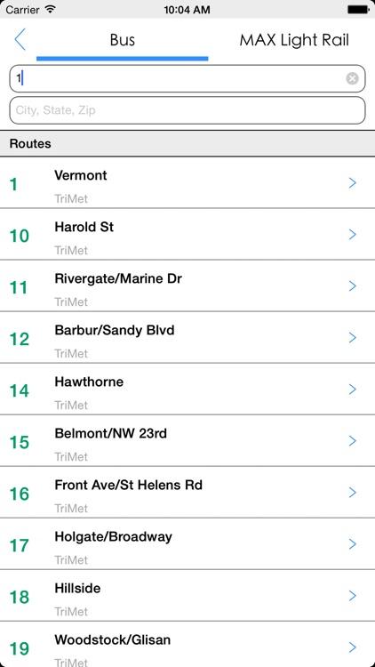 Transit Tracker - Portland screenshot-4