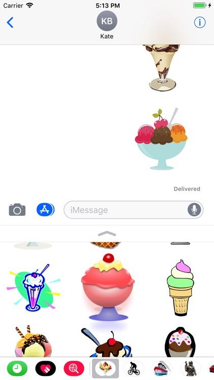 Ice Cream Stickers 4 iMessage screenshot-3