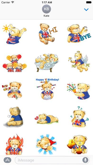 Classic English Teddy Sticker Screenshot