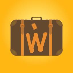 Ícone do app Worldy: Adesivos de viagem