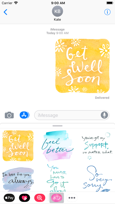 Kathy Davis Stickers screenshot two