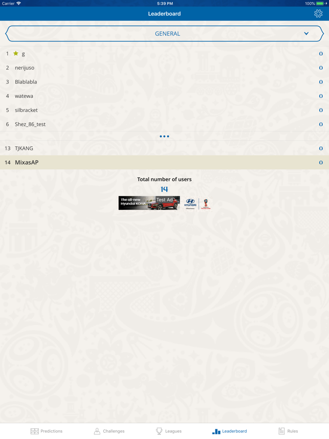 FIFA World Cup™ Predictor Screenshot