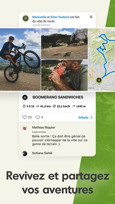 Komoot - Cartes de rando/vélo